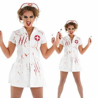 [12/3 19 60 地位不斷 ★ 所有專案 30%的折扣優惠券分佈!!] 血腥的時期合格護士護士女士萬聖節化裝服裝護士裝僵屍恐怖系列女士晚會事件服裝 * 福