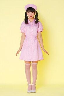 時間合格護士護士婦女服裝粉色護士塗鴉護理護士萬聖節服飾的臨時儀錶女士方事件服飾 * 福