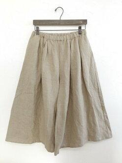 婦女的底部在日本日本在日本 crea 去亞麻牧人褲子女士裙子長褲裙子流行裙褲