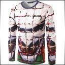 Tシャツ メンズ トップス 長袖 クルーネック プリント デザイン インナー プルオーバ スリム カジュアル メンズファッション ロンT 大きいサイズ