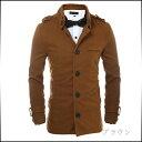 期間限定 コート メンズ アウター シングル カジュアル シンプル ボタンダウン風 袖ベルト メンズファッション ジャケット 紳士服 ※fu