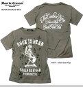 Tシャツ メンズ トップス 日本製 国産 BASE De CRICROSS ギタリスト スカル 十字架 メタリックプリント メンズファッション 半袖