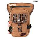 臀包, 腰包 - ヒップバッグ ウエストバッグ メンズ バッグ SURPLUS コットン キャンバス レッグバッグ 鞄
