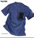 男装 - Tシャツ メンズ トップス 吸汗速乾 ひんやり冷感 サラッとした肌触り TULTEX 圧着 メッシュポケット付き スムス ドライ メンズファッション 半袖