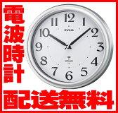 掛け時計(電波時計)ノア精密直径約25cmの見やすい電波壁掛け時計【送料無料】電波 壁掛時計