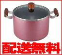 【送料無料】IH対応フッ素樹脂加工シチューポット(寸胴鍋・煮込み鍋)口径22cm