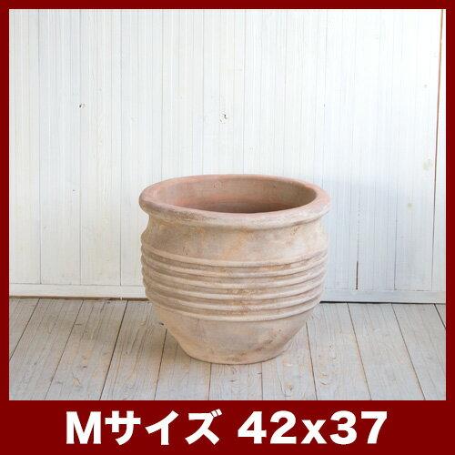テラアスタ リゲール M14号  ≪植木鉢/テラコッタ鉢/大型プランター/アンティーク調≫ おしゃれで美しいフォルムのアンティーク調テラコッタ