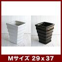 ルッカ HQ1 ツヤ Mサイズ   ≪植木鉢/陶器鉢/白黒磁器系≫