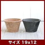 モスポット 100L 6号  ≪植木鉢/おしゃれ/ラフ/陶器/テラコッタ/素焼き鉢≫