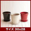 ヴィトロ データム 10号 受け皿付き  ≪おしゃれな植木鉢/陶器鉢/高温焼成≫