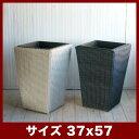 ウィーブンポット スクエアロング OT 57  ≪鉢カバー/樹脂ラタンプランター/軽量≫