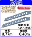 【代引不可・日時指定不可】ハセガワ(長谷川工業) アルミブリッジ HBBKM-360-40-4.0 『4.0t』 【2本 1セット】