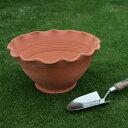 英国 Whichford(ウィッチフォード) スカラップ ボウル 直径36センチ(約12号鉢)のテラコッタ【送料無料】