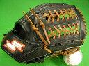型付け無料 SSK エスエスケー 海外モデル 内野用 ブラックメッシュ×タンヒモ 硬式野球対応 野球・ソフトボール兼用