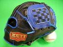 型付け無料 ゼット ZETT 海外モデル 内野用 ブラック×ブルー PRO MODEL プロモデル 内野 グローブ