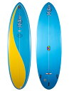 "MACCOY ALL ROUND NUGGET 6'8"" BLUE/YELLOW XF 3F マッコイ エポキシ サーフボード  サーフィン サーフボード 小波用THE SURFBOARD AGENCY"