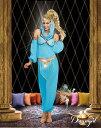 アラジンのコスチューム4点セット仮装コスチュームコスプレ/ドリームガール・仮装・ハロウィン・女性大人用