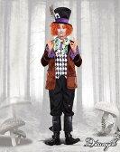 マッドハッター ジョニーデップ アリス 大人男性  3点セット コスチューム コスプレ衣装 (二次会、結婚式、仮装、パーティー、宴会、ハロウィン) 送料無料02P03Sep16