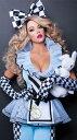 不思議の国のアリスのコスチューム2点セット コスプレ衣装 (二次会、結婚式、仮装、パーティー、宴会、舞台、演劇、ハロウィン)女性大人用