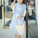シフォンフリルワンピース 可愛い妊婦服 大きいサイズ【】