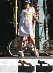 PULSE【全3色】約10cmハイヒールプラットフォーム厚底サンダル/YRUワイアールユーインポートシューズ【サイズ交換1回OK】【送料無料】