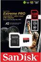 SanDiskサンディスクExtreme Proエクストリーム プロmicroSDXC UHS-Iカード SDSQXCY-128G-GN6MA (R170/W90 V30 U3 4K)ドローン insta360 oneX GoPro DJI MAVIC 海外パッケージ SD変換アダプター付属
