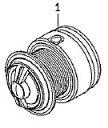 ●ダイワ 14インパルト2500H-LBD(4960652956079)用 純正標準スプール (部品コード128865) 【キャンセル及び返品不可商品】
