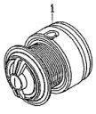 ●ダイワ 13トライソ2500H-LBD(4960652921640)用 純正標準スプール (部品コード128783) 【キャンセル及び返品不可商品】
