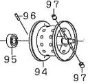●ダイワ スマック レッドチューン100SH-L(4960652870733)用 純正標準スプール (部品コード129542) 【キャンセル及び返品不可商品】