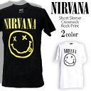 ロックTシャツ 半袖 Nirvana Tシャツ ニルヴァーナ...