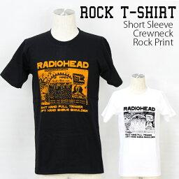 ロックTシャツ 半袖 Radiohead Tシャツ <strong>レディオヘッド</strong> バンドTシャツ メンズ レディース ロックT バンドT バンT ロゴ バンド ロゴT ダンス ミュージック ファッション ROCK ブラック ホワイト 黒 白 ヘヴィメタ コットン 綿 100% 春夏 夏物 おしゃれ