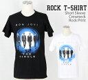 ロックTシャツ Bon Jovi Tシャツ ボンジョヴィ 半...