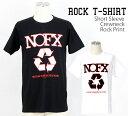 ロックTシャツ NOFX Tシャツ ノーエフエックス 半袖 バンドTシャツ メンズ ユニセックス ロ...