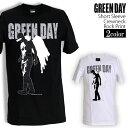 ロックTシャツ 半袖 Green Day Tシャツ グリーンデイ バンドTシャツ メンズ レディース ロックT バンドT バンT ロゴ バンド ロゴT ダンス ミュージック ファッション ROCK ブラック ホワイト 黒 白 ヘヴィメタ コットン 綿 100 春夏 夏物 おしゃれ