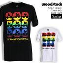 ロックTシャツ 半袖 Woodstock Festival Tシャツ ウッドストック バンドTシャツ メンズ レディース ロックT バンドT バンT ロゴ バンド ロゴT ダンス ミュージック ファッション ROCK ブラック ホワイト 黒 白 ヘヴィメタ コットン 綿 100% 春夏 夏物 おしゃれ