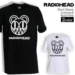 ロックTシャツ 半袖 Radiohead Tシャツ <strong>レディオヘッド</strong> Simple Bear バンドTシャツ メンズ レディース ロックT バンドT バンT ロゴ バンド ロゴT ダンス ミュージック ファッション ROCK ブラック ホワイト 黒 白 ヘヴィメタ コットン 綿 100% 春夏 夏物 おしゃれ