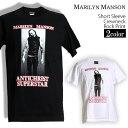 ロックTシャツ Marilyn Manson Tシャツ マリリンマンソン 半袖 バンドTシャツ メン...