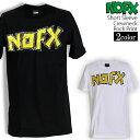ロックTシャツ NOFX Tシャツ ノーエフエックス 半袖 バンドTシャツ ロゴ メンズ ユニセック...