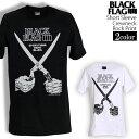 ロックTシャツ 半袖 BLACK FLAG Tシャツ ブラックフラッグ バンドTシャツ メンズ レデ...