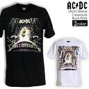 ロックTシャツ 半袖 AC/DC Tシャツ エーシーディーシー バンドTシャツ メンズ レディース ロックT バンドT バンT ロゴ バンド ロゴT ダンス ミュージック ファッション ROCK ブラック ホワイト 黒 白 ヘヴィメタ コットン 綿 100 春夏 夏物 おしゃれ