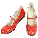 No.374004re/艶やかなエナメルが上品♪レイン対応のオールウェザー 甲ストラップ パンプス(レディース 女性用 パンプス シューズ おしゃれ レイン レインシューズ レイングッズ ストラップ 22センチ 23 24 エナメル レッド 赤 雨靴 晴雨兼用) 10P18Jun16