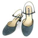 No.444211 クロールバリエ アンクルストラップ ミュール デニム(レディース ファッション 女性用 ミュール サンダル おしゃれ 草履 ぞうり かわいい 婦人靴 通販 楽天) 10P03Sep16