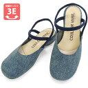 No.529203 クロールバリエ ダブルストラップサンダル デニム2(レディース 女性用 サンダル おしゃれ 草履 ぞうり かわいい ストラップ21.5cm 小さい靴 22cm 23 24 25 大きい スモール 小さいサイズ)