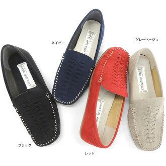No.678202 Kroll Barrie moccasin loafers (women's women's shoes women's soft light simple painless light fun Lantern slip-on nejre Mocha black 21.5 cm) 10P07Feb16