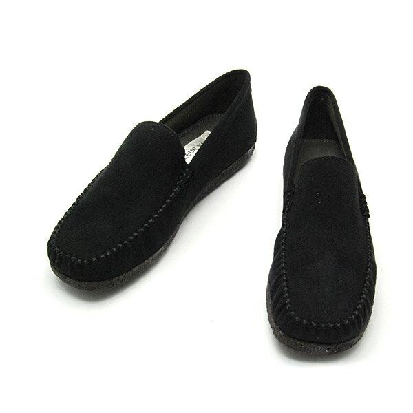 No.718bl/シンプルで使いやすいモカシンローファー。スエード調素材の柔らかい質感fs04gm10P03Sep16(レディース 女性用 ローファー ローファ シューズ おしゃれ モカシン ドライビング 歩きやすい 痛くない 21.5cm 小さい靴 24 25 大きい 黒 ブラック 小さいサイズ ○プロパー○