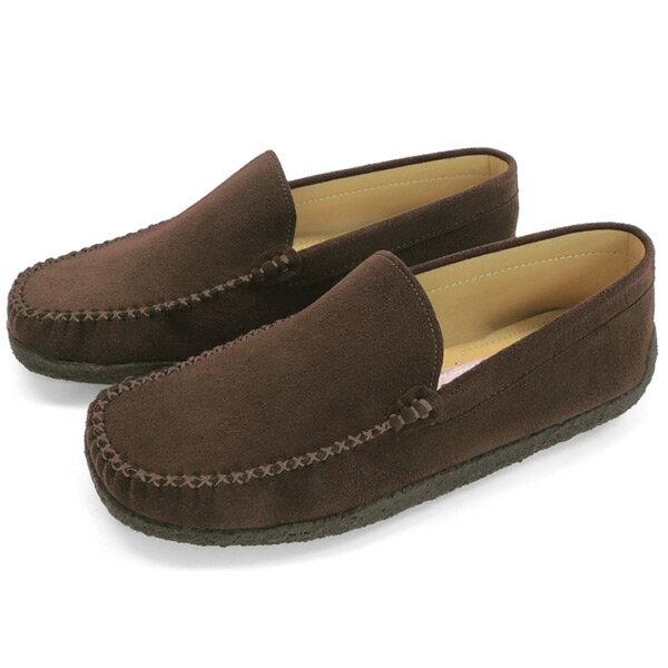 No.718br/シンプルで使いやすいモカシンローファー。スエード調素材の柔らかい質感fs04gm10P03Sep16(レディース 女性用 ローファー ローファ シューズ おしゃれ モカシン ドライビング 歩きやすい 痛くない 21.5cm 小さい靴 24 25 大きい ブラウン 茶 小さいサイズ ○プロパー○