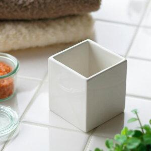 「ホワイトキューブ」ホルダー【陶器 小物入れ コット