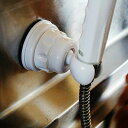シャワーフック「吸盤式シャワーフック」(ホワイト)[PS30-37-W]【角度調節自由自在シャワー フック シャワーホルダー 水栓部品 シャワー部品 水栓部品 ...