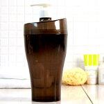 大容量の詰め替えボトル「クリアデュロー」ディスペンサー(ブラウン)