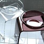 バス2点セット「めぐみ」アクリル製バスチェアセット(クリア/ブラウン)【バスチェア アクリル セット バスチェアー 風呂椅子 洗面器 ウォッシュボール ハンドペール 手桶】